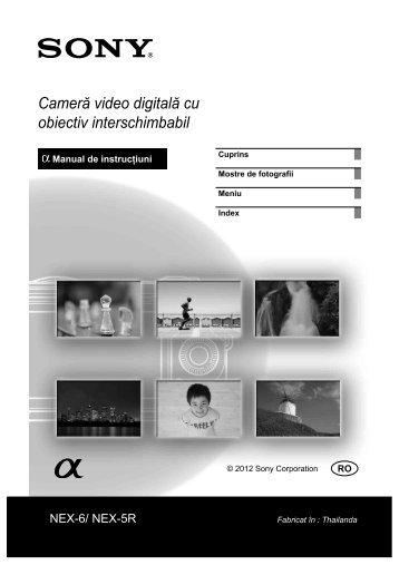 Sony NEX-5RK - NEX-5RK Istruzioni per l'uso Rumeno