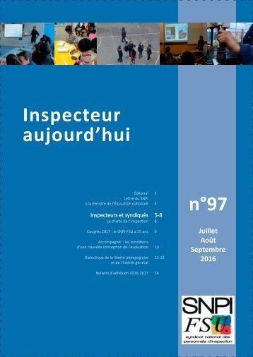 n°97 Inspecteur aujourd'hui