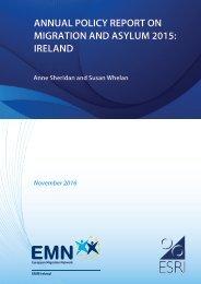 MIGRATION AND ASYLUM 2015 IRELAND