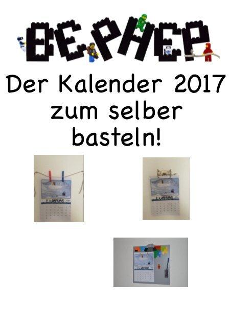 Der Kalender 2017 Zum Selber Basteln