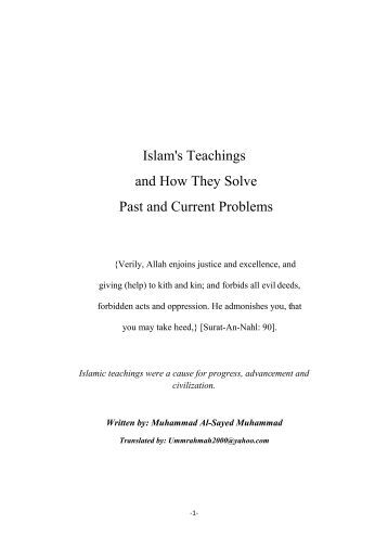 Islam's Teachings and How They Solve Past and Current Problems