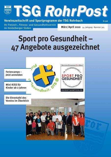 Sport pro Gesundheit – 47 Angebote ausgezeichnet