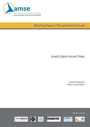 Working Papers / Documents de travail Israel's Open-Secret Trade