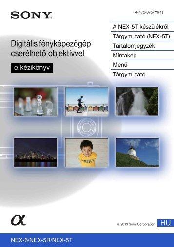 Sony NEX-5R - NEX-5R Guida all'uso Ungherese