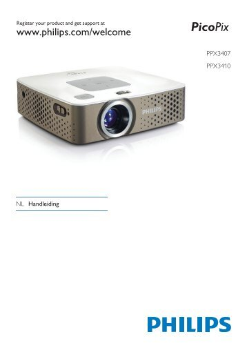 Philips PicoPix Projecteur de poche - Mode d'emploi - NLD
