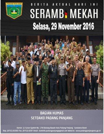 e-Kliping Selasa, 29 November 2016
