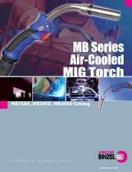 Abicor Binzel Air Cooled Mig Torch Catalogue
