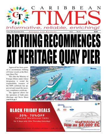Caribbean Times 44th Issue - Friday 25th November 2016