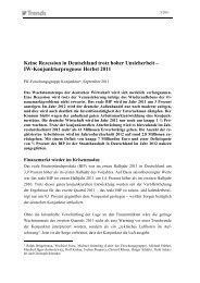 IW Trends - Institut der deutschen Wirtschaft