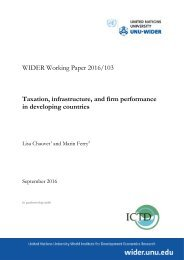 Taxation infrastructure and firm performance in developing countries