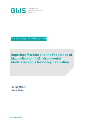Macro-Economic-Environmental Models as Tools for Policy Evaluation