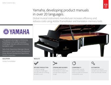 Yamaha developing product manuals in over 20 languages