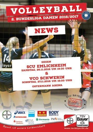Spieltagsnews Nr. 04 gegen SCU Emlichheim & VCO Schwerin