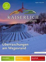 Kaiserlich erleben, Ausgabe 4/2016