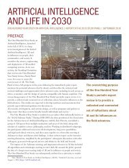 ARTIFICIAL INTELLIGENCE AND LIFE IN 2030