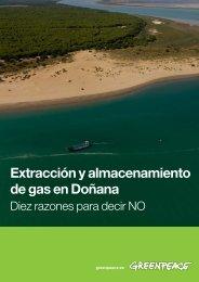 Extracción y almacenamiento de gas en Doñana