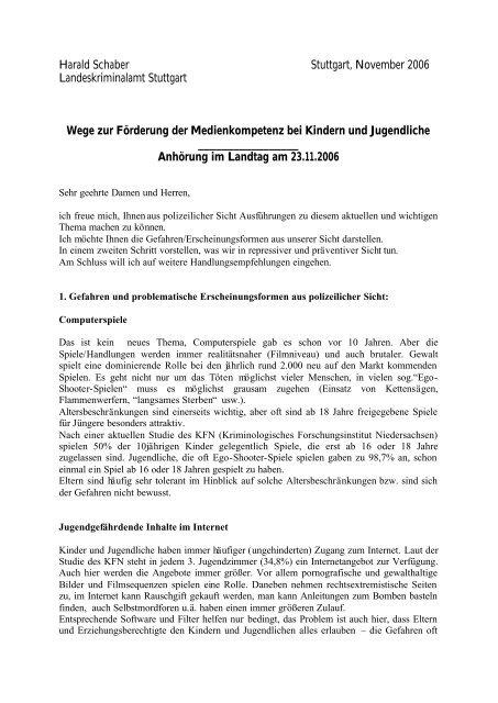 sein Vortrag - Mediaculture online
