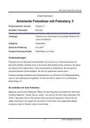 Animierte Fotoshow mit Fotostory 3 - Mediaculture online