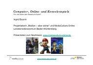 Computer-, Online- und  Konsolenspiele - Mediaculture online