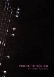 Undergraduate Portfolio - Saif Horani