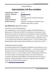 Internetseiten mit Nvu erstellen - Mediaculture online