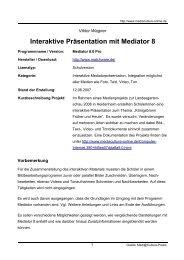 Interaktive Präsentation mit Mediator 8 - Mediaculture online