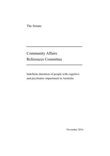 Community Affairs References Committee