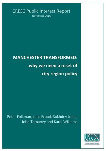 why we need a reset of city region policy