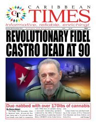Caribbean Times 45th Issue - Monday 28th November 2016