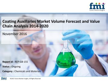 Coating Auxillaries Market size and forecast, 2014-2020