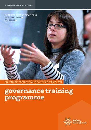 governance training programme