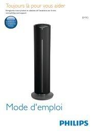 Philips Fidelio Système audio sans fil multiroom - Mode d'emploi - FRA