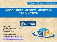 Global Juice Market:  Analysis, 2014 - 2020