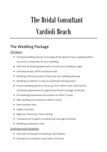 13. Prices - Zante - Vardioli Beach wedding and reception 2016