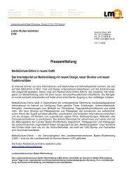 Pressemitteilung - Mediaculture online
