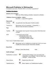 Microsoft Publisher in Stichworten - Mediaculture online