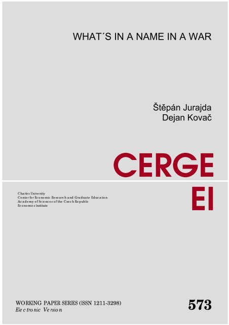 CERGE EI