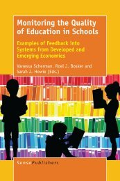 Monitoring the Quality of Education in Schools