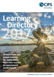 CIPS UK Learning Directory 2017