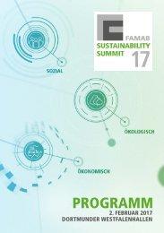FAMAB-Sustainability Summit 2017 Programm