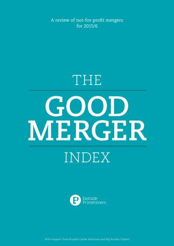 A review of not-for-profit mergers for 2015/6