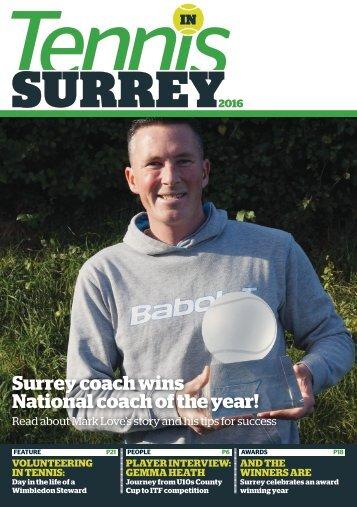 Tennis in Surrey Magazine 2016