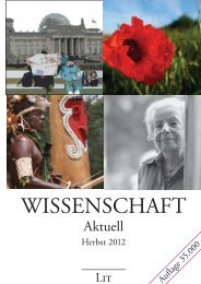 Wissenschaft Aktuell - LIT Verlag