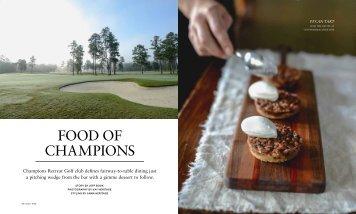 FOOD OF CHAMPIONS