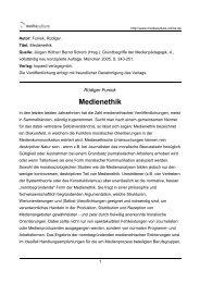 Medienethik - Mediaculture online