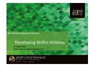 Developing Skillful Athletes