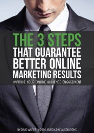 The 3 Steps that Guarantee Better Online Marketing Results