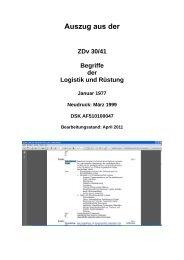 Auszug aus der ZDv 30_41 _Begriffe der Logistik und Rüstung`