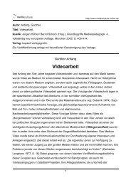 Videoarbeit - Mediaculture online