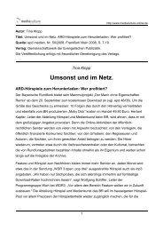 Umsonst und im Netz. - Mediaculture online